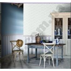 Интерьер Blooming garden Голубая кухня в классическом стиле