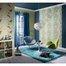 Интерьер Emocion 2013 бело-синие обои для  детской комнаты