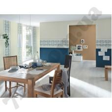 Интерьер Easy Passion 2015 синие обои в столовую