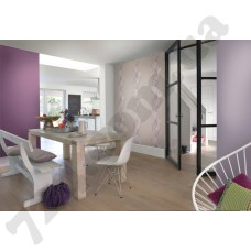 Интерьер Seduction обои для столовой крупные цветы в светло-фиолетовых оттенках