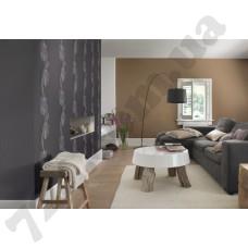 Интерьер Seduction обои для гостиной  крупные цветы в черно-коричневых оттенках