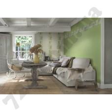 Интерьер Seduction обои для гостиной  вьющиеся растения  в салатовых оттенках
