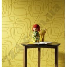 Интерьер Roll Over Vision Линейная абстракция на жёлтом фоне