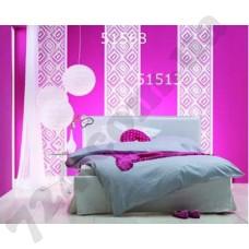 Интерьер Panels Обои Marburg для спальни Розовый ромб