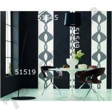 Интерьер Panels Обои Marburg для кухни Черная спираль