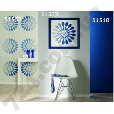 Интерьер Panels Обои Panels для прихожей Синие снежинки 51552 51503 51518