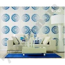 Интерьер Panels Обои Panels для гостиной Белые в синий цветок 51552