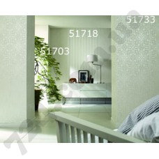 Интерьер At home Обоиl At home для спальни Белые цветы 51703 51718 51733
