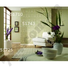 Интерьер At home Обои At home для гостиной Зеленый классик 51710 51743 51725