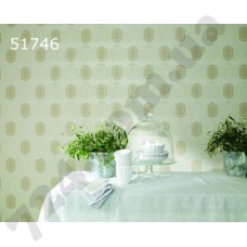 Интерьер At home Обои AT home для кухни Светло-зееный шестигранник 51746