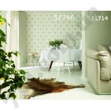 Интерьер At home Обои At home для кужни Салатовые с рисунком из шестогранников 51746 51714