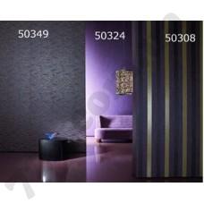Интерьер Ravenna Обои Ravenna для зала Фиолетовые золотая полоса 50349 50324 50308
