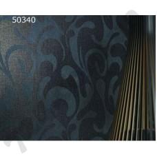 Интерьер Ravenna Обои Ravenna для столово Черные серебряный узор 50340