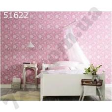 Интерьер Scandinavian Vintage Обои Scandinavian Vintage для спальни розовые с белыми цветами 51622