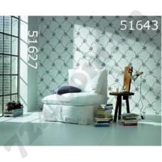 Интерьер Scandinavian Vintage Обои Scandinavian Vintage для гостиной Серые в цветы 51627 51643