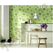 Интерьер Scandinavian Vintage Обои Scandinavian Vintage для столовой Зеленые цветы 51660