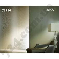 Интерьер The Wall Бежевые обои the Wall для гостиной Белые листики 78936 78907