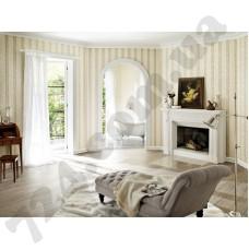 Интерьер Trianon 2015 Обои Trianon 2015 светлого-серого цвета с полоской