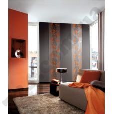 Интерьер Sceno Серые с оранжевым обои Sceno для зала