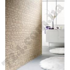 Интерьер Brix Обои Brix в виде кирпичной стены светло-серого цвета для коридора