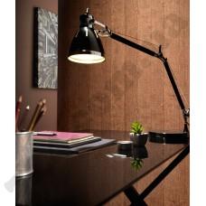 Интерьер Brix Коричневые обои Brix для кабинета имитирующие кору дерева