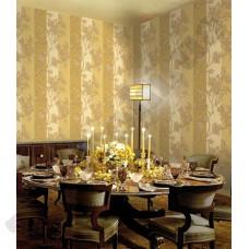 Интерьер Roberto Cavalli обои Emiliana Parati ROBERTO CAVALLI артикул 12015 в интрьере столовой комнаты в бежево-коричневых тонах