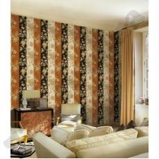 Интерьер Roberto Cavalli обои Emiliana Parati ROBERTO CAVALLI артикул 12016 в интрьере комнаты в бежево-коричневых тонах
