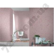 Интерьер Maximum XI мелкие листики на розовом фоне