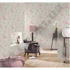 Интерьер Maximum XI розовые розы на белом фоне