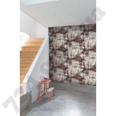 Интерьер Exposed Warehouse 2018 обои с Эйфелевой башней и надписями