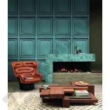 Интерьер Crispy Paper обои с изображением голубой плитки