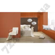 Интерьер Cosmopolitan 2017 Оранжевые обои 576498, 576009 и коричневые обои для стен 576016 Rasch в интерьере - каталог Cosmopolitan 2017