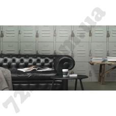 Интерьер Crispy Paper Серые обои 524222 в интерьере - каталог Rasch Crispy Paper - обои для стен в гостиной