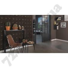 Интерьер Crispy Paper Crispy Paper каталог Rasch артикулы коричневых обоев 527049 и 524024 в интерьере зала