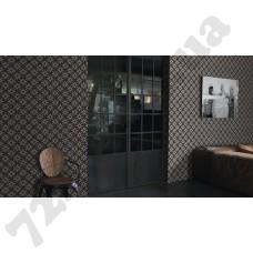 Интерьер Crispy Paper Бело-коричневые обои для стен 524710 Rasch в интерьере спальни, каталог Crispy Paper