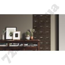 Интерьер Crispy Paper Коричневые обои 524024 Crispy Paper Rasch в интерьере квартиры