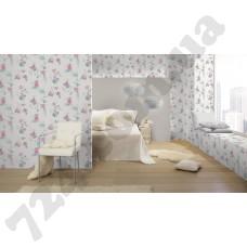 Интерьер Sophie Charlotte Обои 440607 с цветами Rasch каталог Sophie Charlotte в интерьере спальни