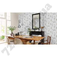 Интерьер Sophie Charlotte Обои 440614 и 440751 Rasch  - фото столовой из каталога Sophie Charlotte