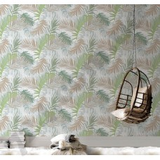 Интерьер Vermeil  Обои с листьями пальмы