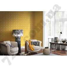 Интерьер b.b home passion VI  желтые обои с кругам