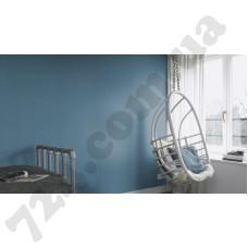 Интерьер Globe голубые обои