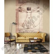 Интерьер Leonardo панно Витрувианский человек Leonardo 23091
