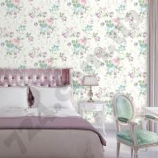 Интерьер Jardin Secret  Обои с розами в спальне