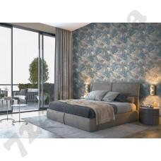 Интерьер Atmosphere new обои с листьями в спальне