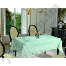 Скатерть	Tropik home	Damask	Mint 9956-9