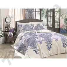Постельное белье Zambak бежево-фиолетовое