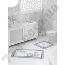 Набор ковриков для ванной Marie Claire Breeze Mavi 57*100+57*57