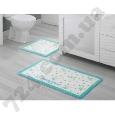 Набор ковриков для ванной MARIE CLAIRE NELLY AQUA 57X100+55X57