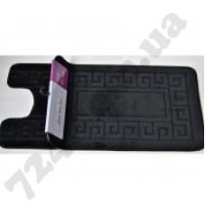 Набор ковриков в ванную MAXIMUS  50x80 + 40x50 ETHNIC BLACK