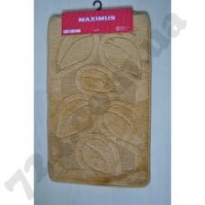 Набор ковриков в ванную MAXIMUS  50x80 + 40x50 FLORA D.BEIGE